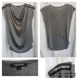 💚 Morgan de toi Silver Beaded top Size small